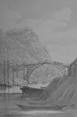 The Iron Bridge in Shropshire under construction in the 1780s: it was worth the wait.