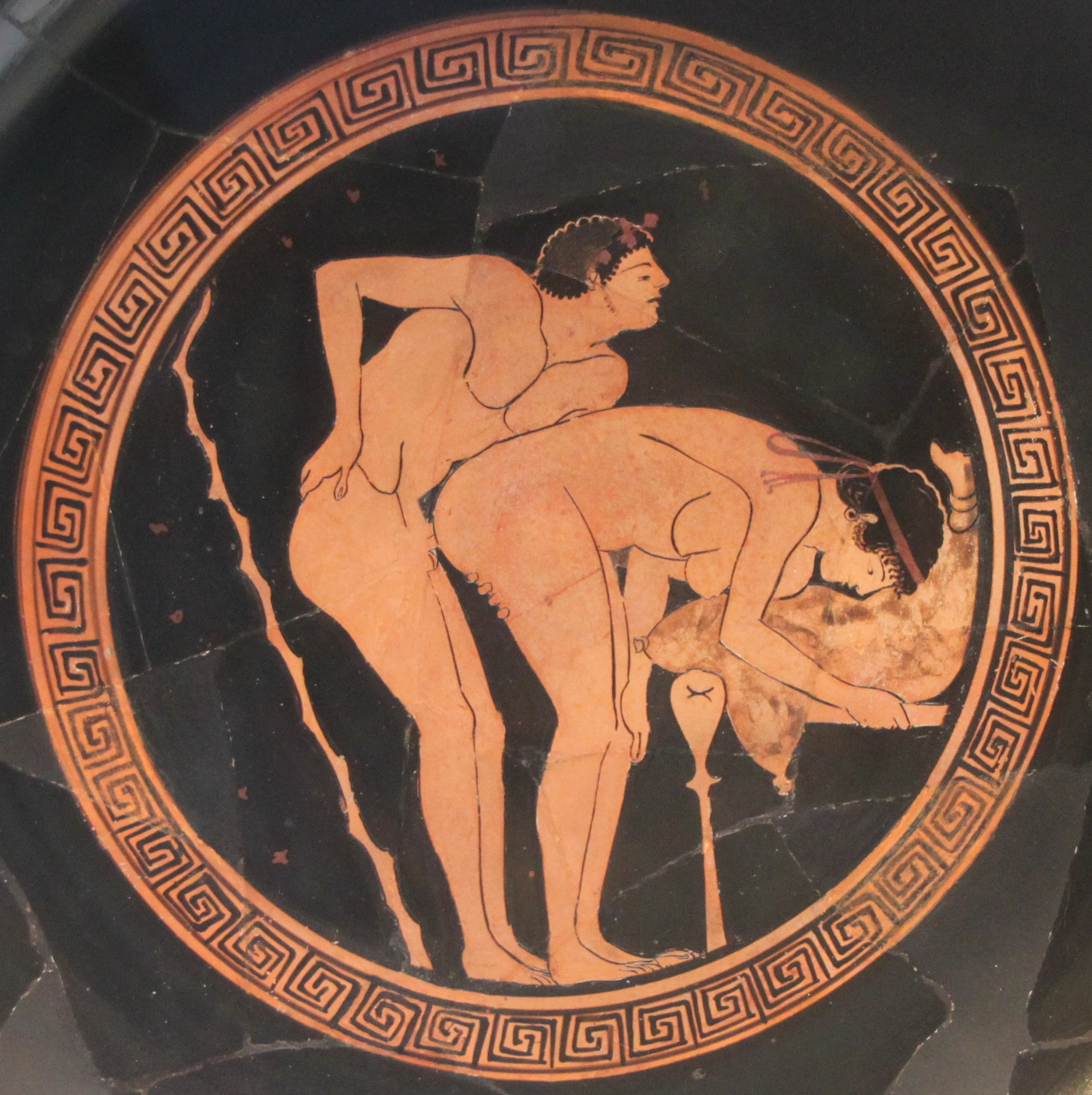 Greek Vase with Frenchmen